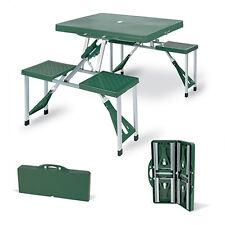 Tavolo 2panche richiudibile ABS resistente in valigetta campeggio picnic DAN000