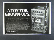 1979 Sony FX-310 FX310 TV Radio Cassette Tape Recorder photo vintage print Ad