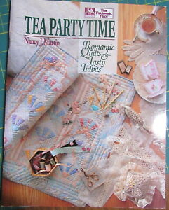 """Tea Party Time"" Quilt Pattern Book by Nancy J Martin, Piecework & Applique"