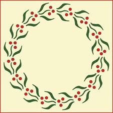 BERRY WREATH STENCIL  - CHRISTMAS - BOTANICAL - The Artful Stencil