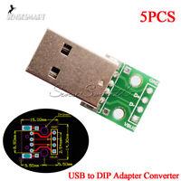 5Pcs USB 2.0 To DIP 4Pin 2.54MM PCB Board Adapter Converter For Arduino DIY