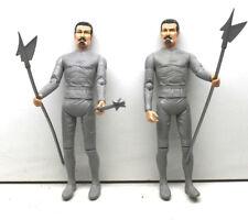 "2 pc 1968 Vintage Marx Toys 1968 USA Silver Knight Sir Stuart 12"" Action Figures"