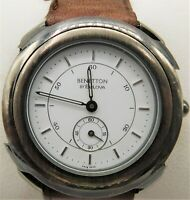 United Colors of BENETTON by BULOVA  Quartz Silver Tone Swiss Watch Chronograph