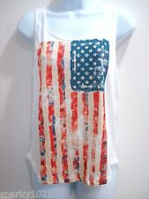 7bd249194f0 Freeze Women Stars and Stripes USA Flag Tank Top Juniors One size