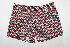 NOW Brand Multi Geo Floral Print Twill Shorts Size 10 BNWT #Si38