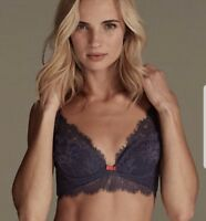 NEW NAVY EYELASH LACE NON PADDED BRALET MARKS & SPENCER NON WIRED