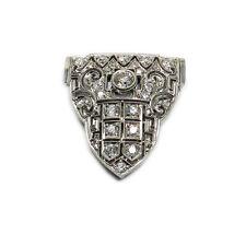 Art Deco Clip Brosche 1,3 ct Diamanten & 18 K Weißgold Brillant Brosche um 1930