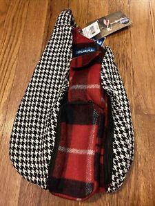 Kavu Mini Rope Bag Sling Plaid Houndstooth NWT