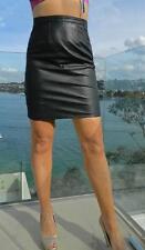VINTAGE Rock Chic 1970s-80s Original  SIRICCO Vera Pelle Retro Leather Skirt
