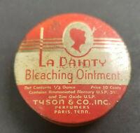 Vintage 1930's La Dainty Bleaching Ointment Tin Empty Tyson & Co