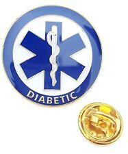 Diabetic Medical Alert Symbol Lapel Pin Badge