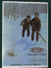 Dupont Black Powders Advertising Poster Two Frightened Boys on First Hunt