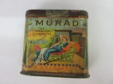 VINTAGE ADVERTISING MURAD CIGARETTE TIN GRAPHICS COLORFUL  M-993