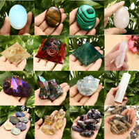 Natural Fluorite Amethyst Point Pink Crystal Quartz Pyramid Healing Wand Stone