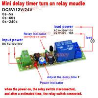 DC 5V 12V 24V Adjustable Time Delay Turn On Switch Mini 10A Timer Relay Module