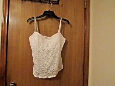 Lace up*Bay Studio Intimates*Adjustable Strap,Bustier,White,Nylon/Spandex,SZ 38D