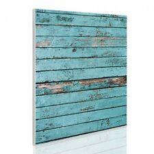 Design Magnetwand Memoboard Pinnwand 50x50cm mit Motiv Blaue Holzlatten Pin Wand