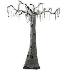 Grusel Hexen Baum verwunschen  Hänge Deko grau schwarz 280 cm Halloween