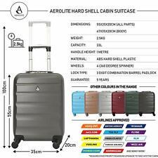 Aerolite Hard Shell 4 Wheel Carry On Hand Cabin Luggage Suitcase 55x35x20cm