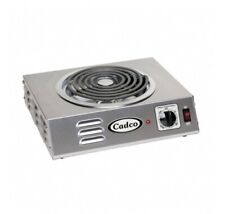 Cadco CSR-3T Electric Hotplate w/ (1) Burner and Infinite Controls, 120v