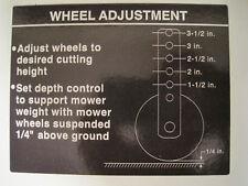 John Deere 318 Decals Mowing Deck Wheel Height & Mule Drive (2) Decals