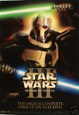STAR WARS III MOVIE DVD POSTER FROM ASIA! - WARRIOR HOLDING 2 LIGHT SABRE SWORDS