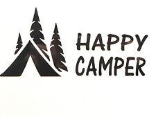 Happy Camper Tent Vinyl Decal Sticker