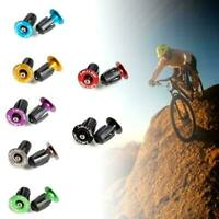 1 Pair Aluminum alloy Bike Grips Bar End Caps Plug Road Ha Bicycle For MTB R6B1