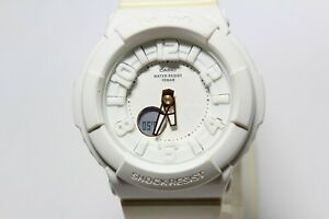 CASIO BGA-132LA White Analog Digital Baby-G shock resistant Watch fashion