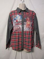 mens cote de nuits button shirt L nwt $78 pin up plaid