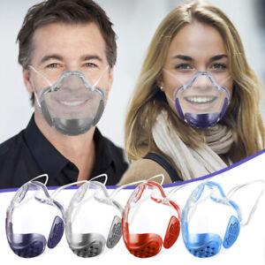 Durable Mask Face Shield Combine Plastic Reusable Clear Transparent ProtectionX1
