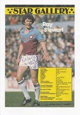 RAY STEWART WEST HAM UNITED 1979-1991 ORIGINAL AUTOGRAPH ANNUAL CUTTING