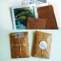 50stk Vintage Brown Craft Kraftpapier Umschlag Retro Einladung Umschläge K4W8