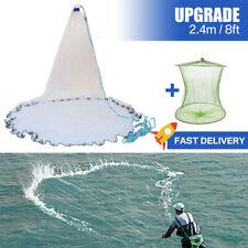 Hand Throw Fishing Cast Net Spin Bait Sinker Mesh Equipment Diameter Full Spread