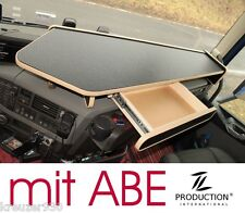 Passend VOLVO FH 4 LKW Tisch Ablage mit ABE und Auszug Ablagetisch beige schwarz