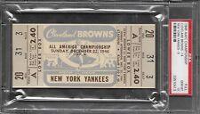 1946 1st ever AAFC Football Championship Full Ticket Psa 10 Gem Mint 1/1 Browns!