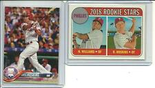 2018 Topps Series 1 259 & Heritage 206 RC Rhys Hoskins Rookie Cards Phillies RC