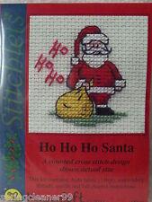 MOUSELOFT STITCHLETS CROSS STITCH KIT ~ HO HO HO SANTA ~ CHRISTMAS ~ NEW