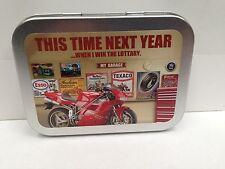 My Garage Bike Lottery Win Garage Cigarette Tobacco Storage 2oz Hinged Tin
