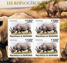 Rhinoceros (African Black Rhino) Stamp Sheet #3 of 5 (2011 Burundi)