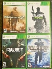 LOT CALL OF DUTY Black Ops World At War MW2 MW3 Xbox 360 COMPLETE Games TESTED