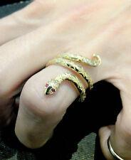 "bague Serpent  or jaune 18 carats (750/1000) Gold "" frabrication française"""