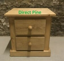 PINE FURNITURE AYLESBURY 2 DRAWER BEDSIDE NEW ANTIQUE WAX NO FLAT PACKS