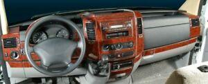 INTERIOR DASH TRIM WOOD DODGE FREIGHTLINER MERCEDES W906 SPRINTER 2006-UP 40PCS