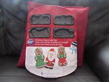 CHRISTMAS POPS METAL COOKIE PAN GINGERBREAD BOY/GIRL/SANTA/SNOWMAN BY WILTON