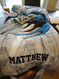 Pottery Barn Kids Batman sleeping bag  mono MATTHEW Photo shoot sample