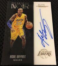 2016-17 Panini Noir Kobe Bryant Autograph Auto Color #35/75 Lakers