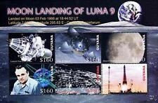 Guyana 2006 Russia in Space = Luna 9 M/S of 6 Sc#3925 Mnh Cv$12.50 Astronomy