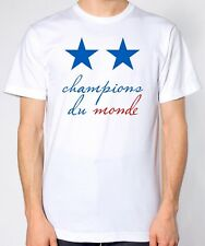 Champions Du Monde White T-Shirt - Two Stars France World Cup Winners 2018