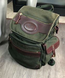 ORVIS Battenkill BUSINESSMAN'S Green CANVAS Leather ENGRAVED Backpack 🦌